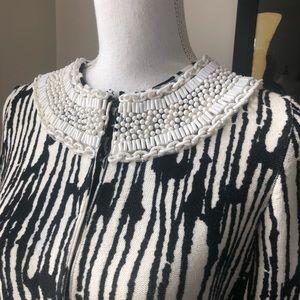 Tracy Reese Cardigan Dissent Collar Neckline M S